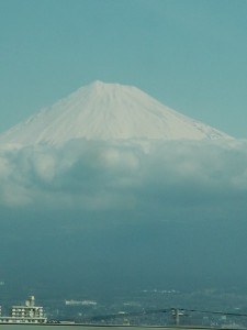 Mt Fuji, Japan, view from the train