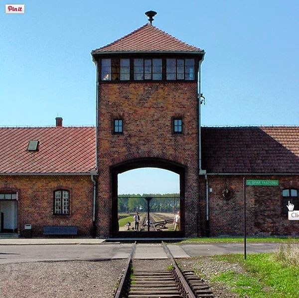 End of the train line and entrance to Birkenau