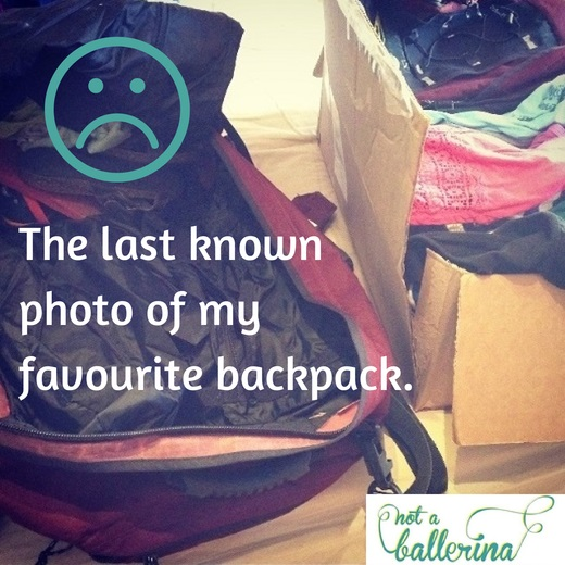 An airline lost my favourite backpack