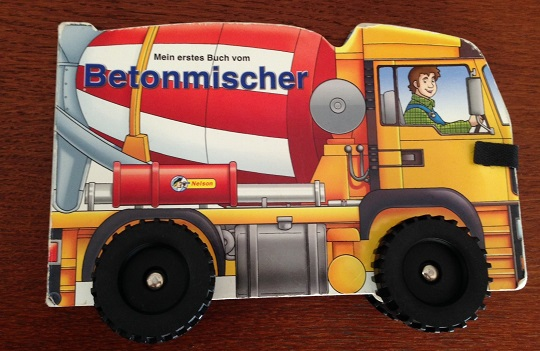 German book for kids about concrete mixers Betonmischer