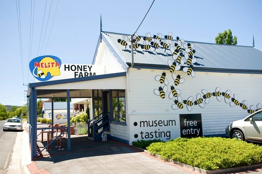 Visiting Melita Honey Farm in Tasmania with a toddler