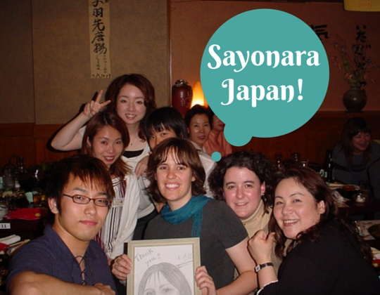 Saying goodbye to a country - Sayonara Japan