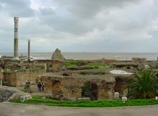 Antonin Bath ruins, Carthage, Tunisia