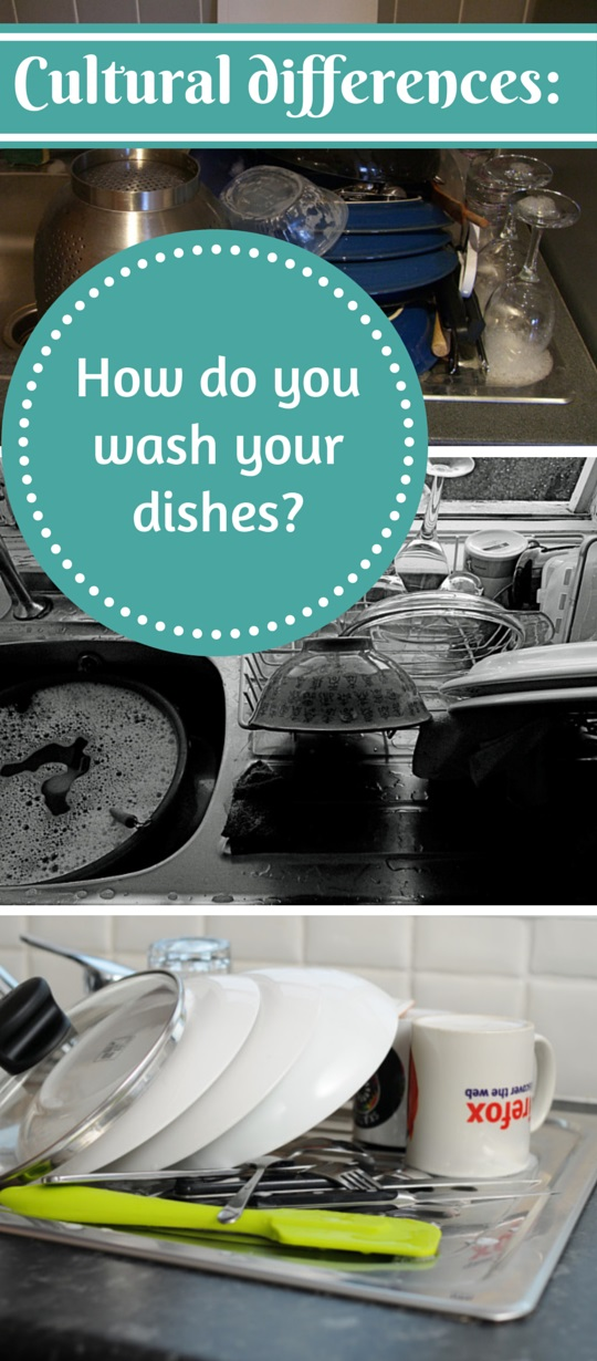 How do you wash your dishes - Cultural differences