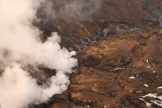 Being adventurous in Iceland - a helicopter tour over volcanic eruptions