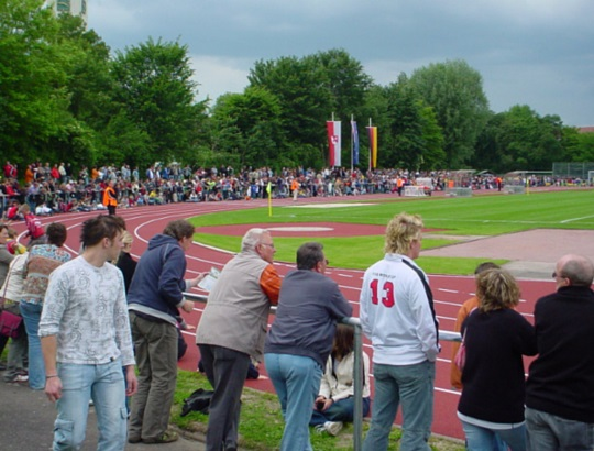 Crowds watching FIFA World Cup training in Germany