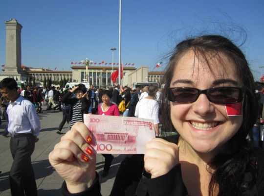 Rachel enjoying her time in China - before returning home to reverse culture shock